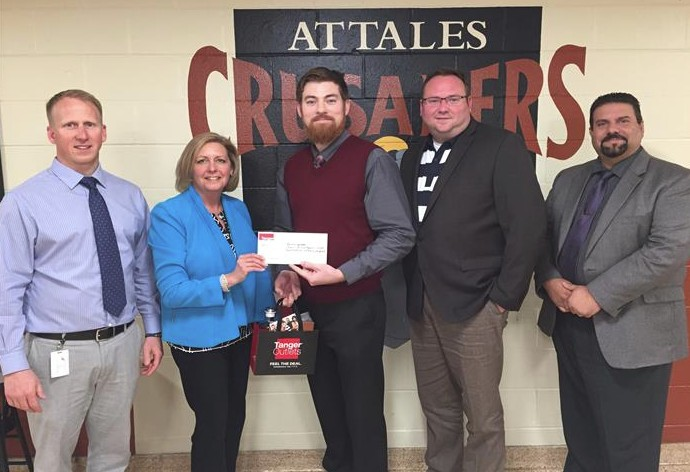 Mr. Kehoe Wins Tanger Outlet Grant