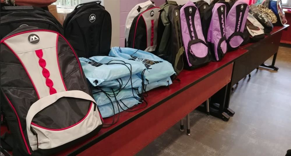 The Absecon PTO and the First National Bank of Absecon were able to donate over 40 backpacks filled with school supplies to our district for students in need