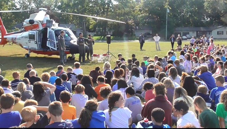 Coast Guard comes to Absecon Schools