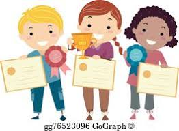 clip art of children with awards